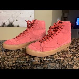 Nike Blazer Mid '77 Suede Light Redwood Red Size 8